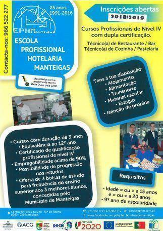 Escola Profissional de Hotelaria de Manteigas – Inscrições Abertas – 2018/2019