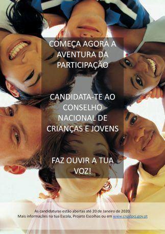 Candidaturas ao Conselho Nacional de Crianças e Jovens