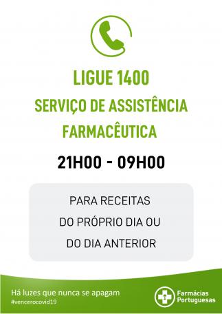 Serviço de Assistência Farmacêutica – Ligue 1400
