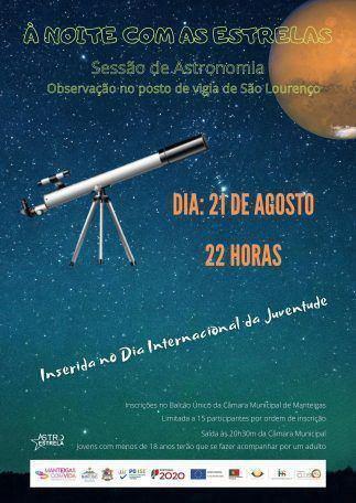 À noite com as estrelas – Sessão de Astronomia